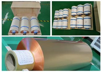 Cina Mylar Tape Roll Dari Foil Tembaga, High Tensile Strength Copper Roll Berkedip pemasok